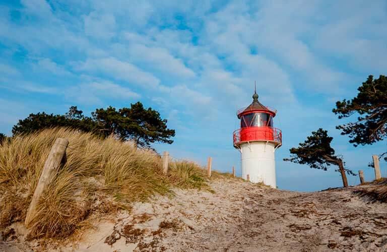 Leuchtturm in Mecklenburg-Vorpommern.