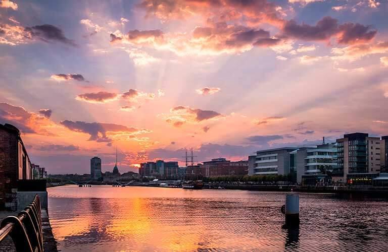 Dublin Panorama auf Wohnmobilreise.