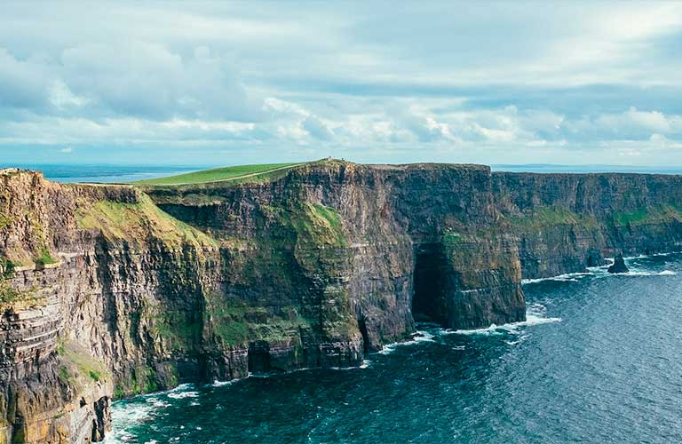 Die Cliff of Moher in Irland.